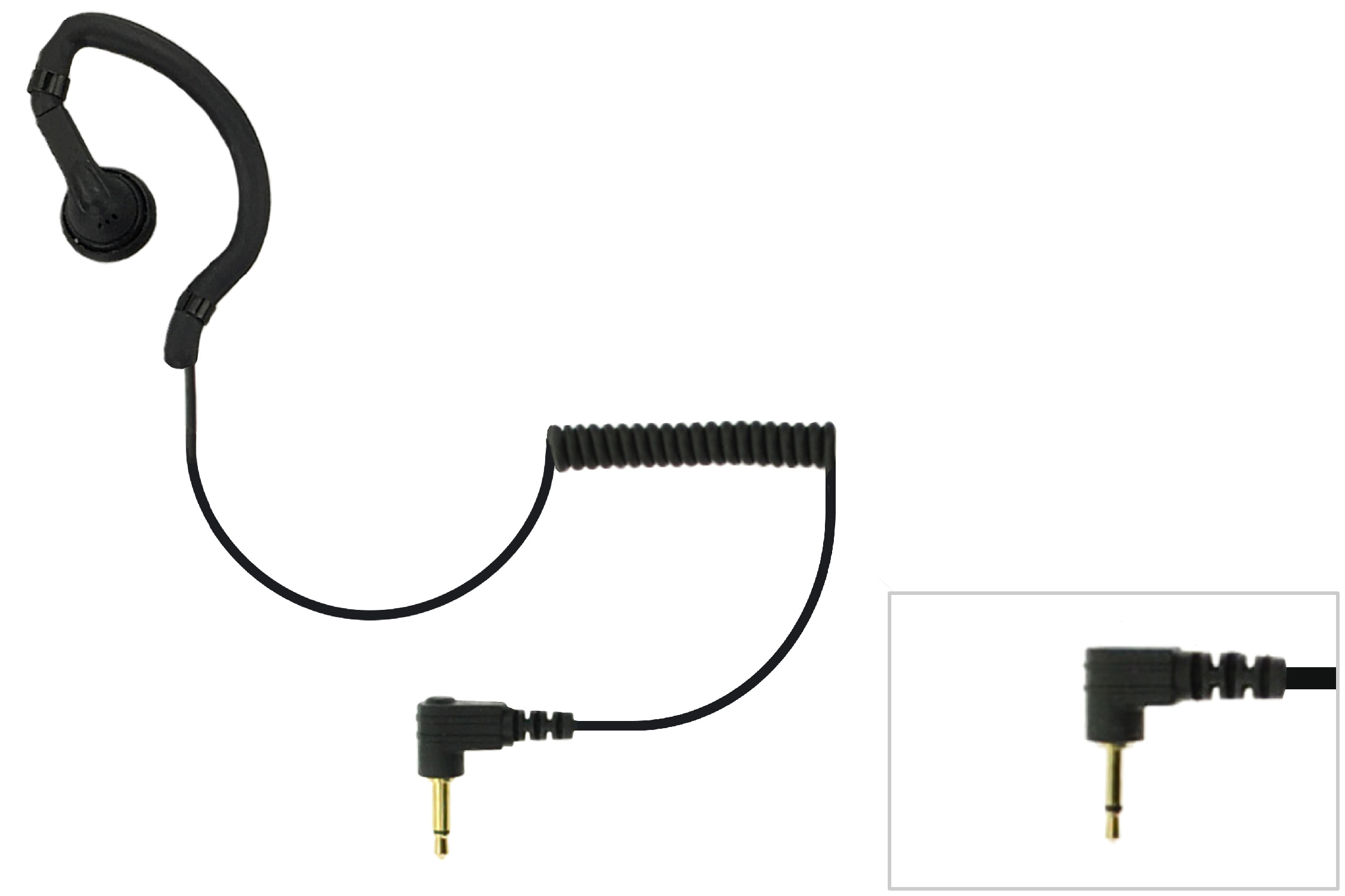 Earbud earpiece for remote speaker mic with 2.5mm plug