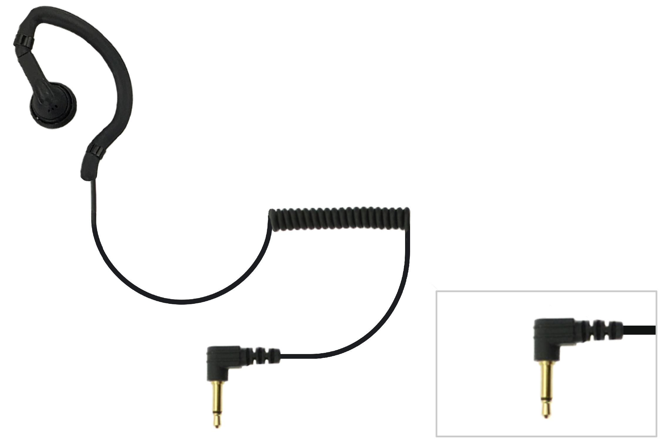 Earbud earpiece for remote speaker mic with 3.5mm plug