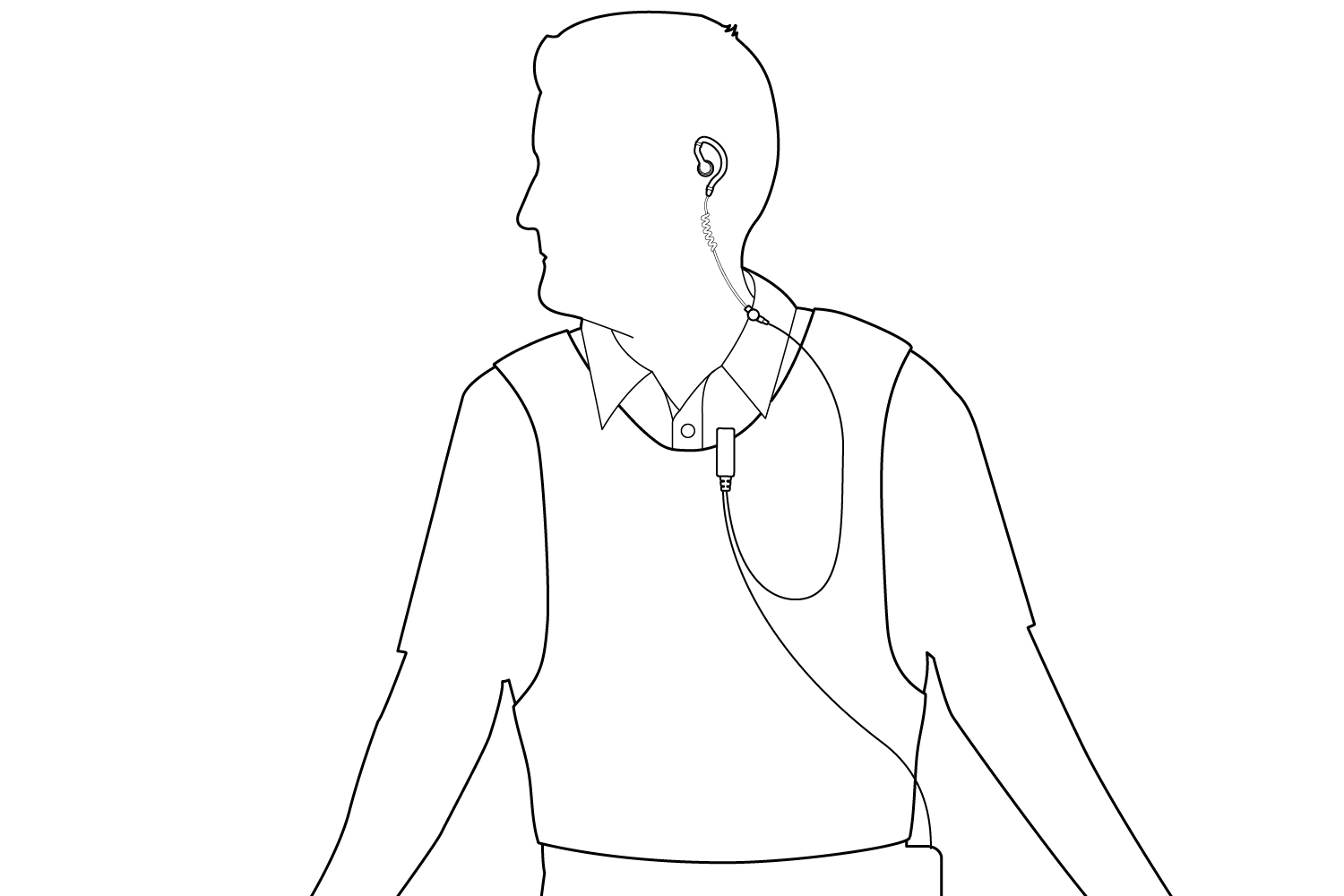 Wearing With Vest Diagram