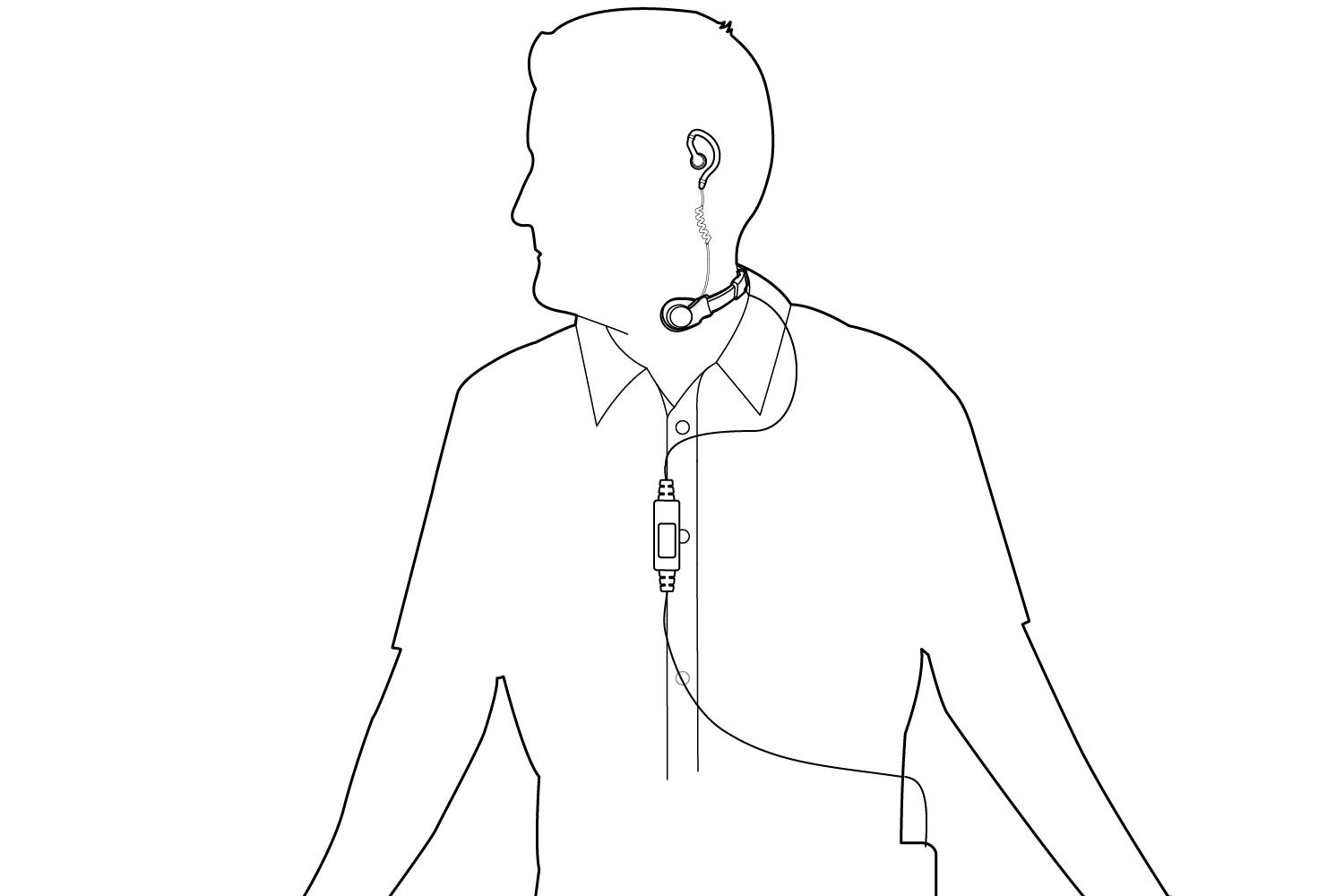 Wearing With Shirt Diagram