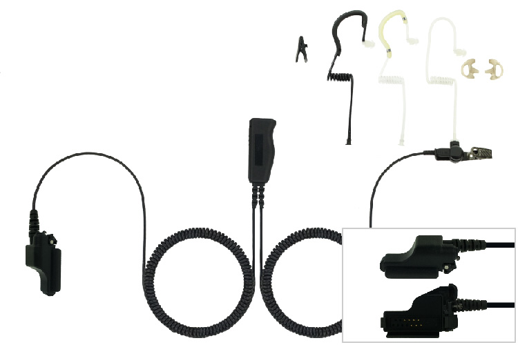 Two Wire Eartube Headset for Motorola XTS and MTX radios